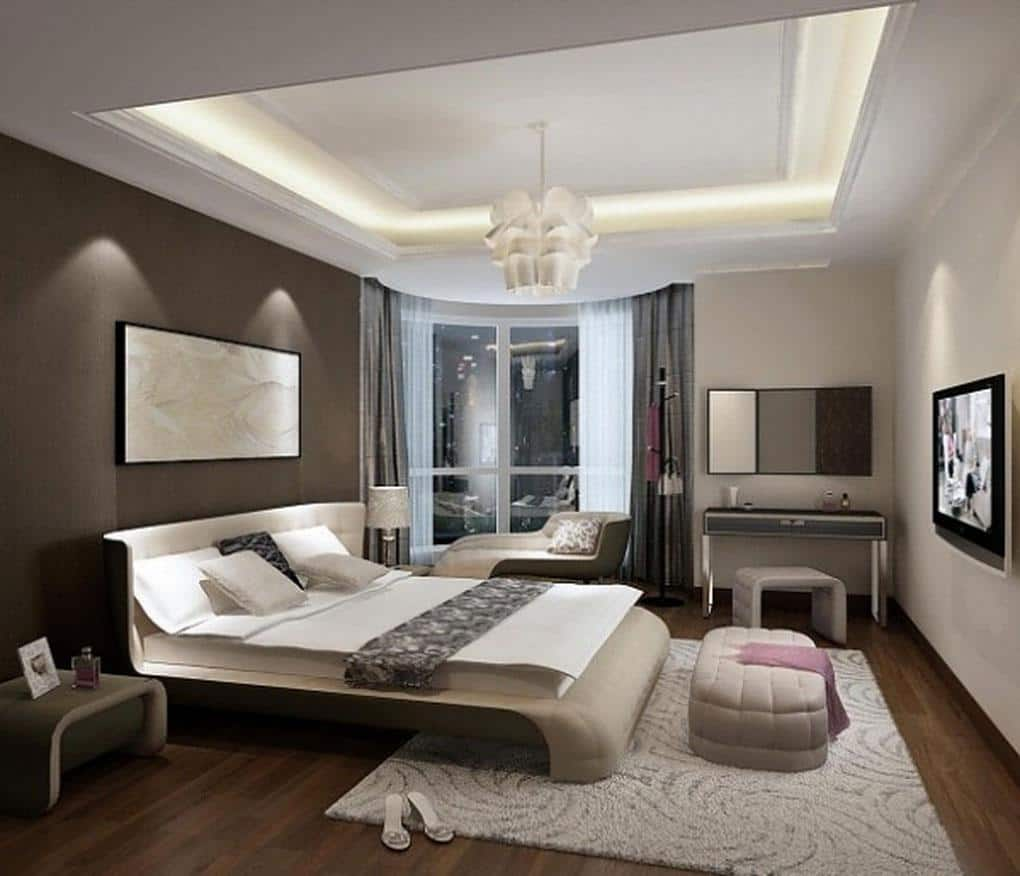 View In Gallery White And Brown Bedroom Small Master Here S How To Make The Most Of It