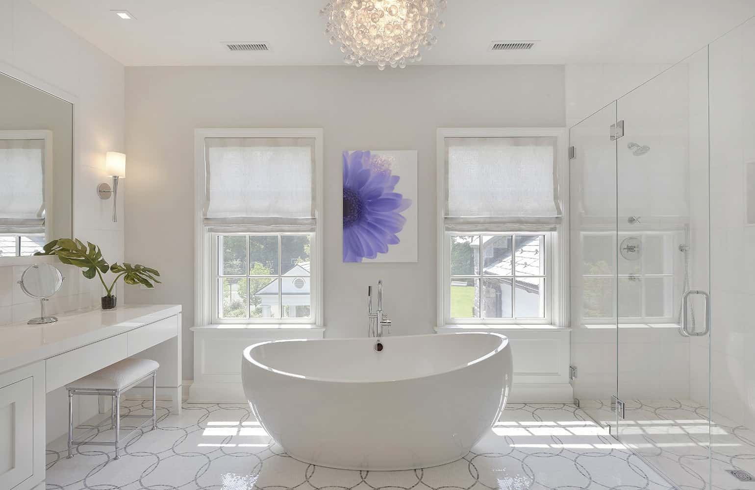 all white elegant bathroom 11 Colors That Will Totally Make Your Bathroom Look Expensive