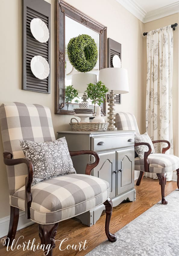 buffalo check accent chairs