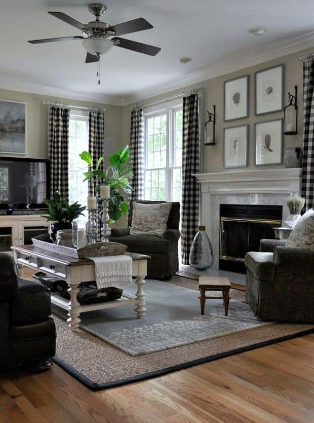 buffalo check curtains 15 Ways To Style The House With Trendy Buffalo Check