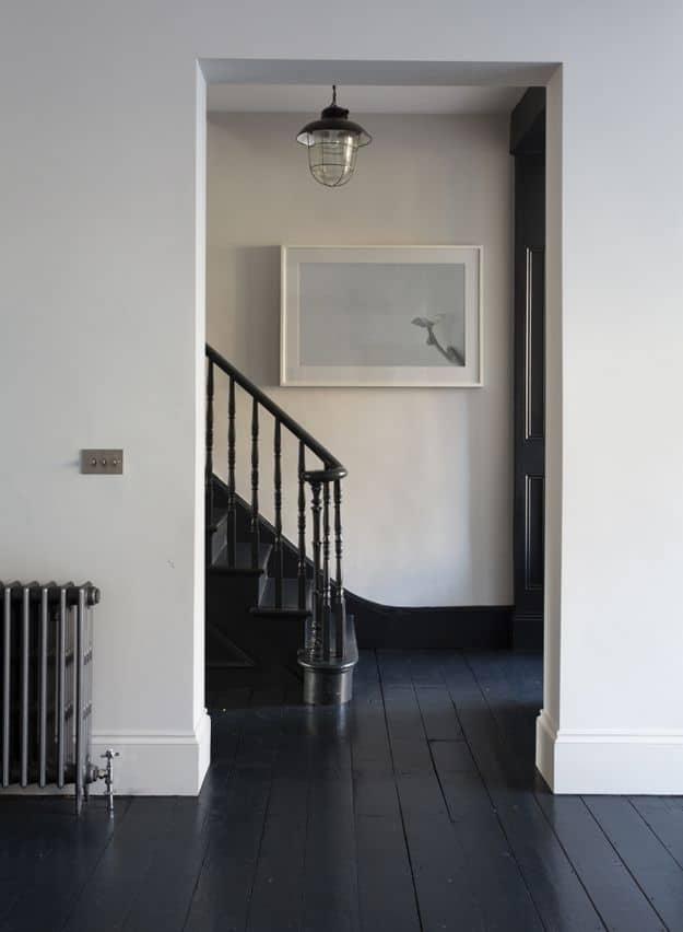 dark painted floor design