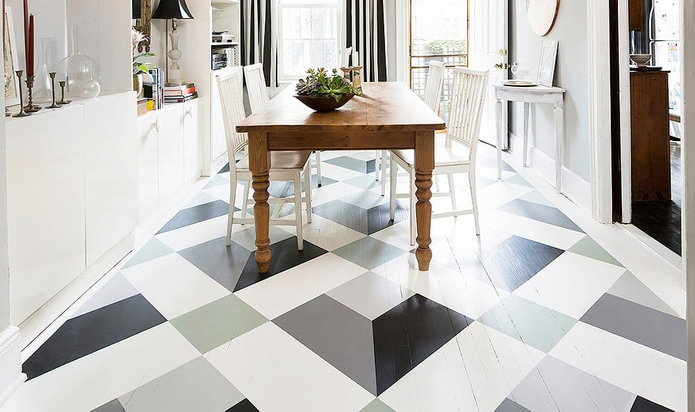 diy painted neutral design floor