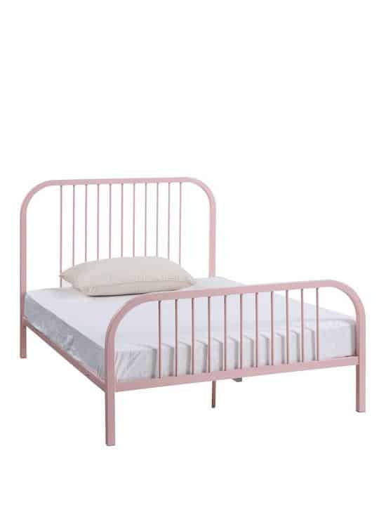 harper metal kids pink bed