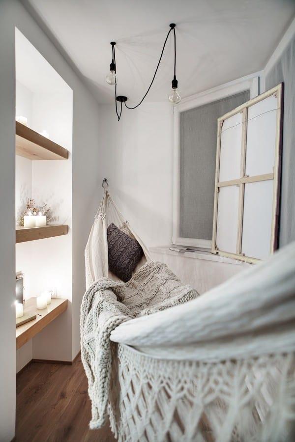 indoor linen hammock