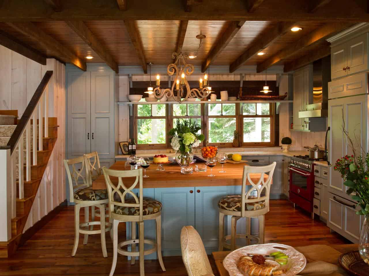 Terracotta works best in the kitchen space because it will flow well with any decor you may already have going on.