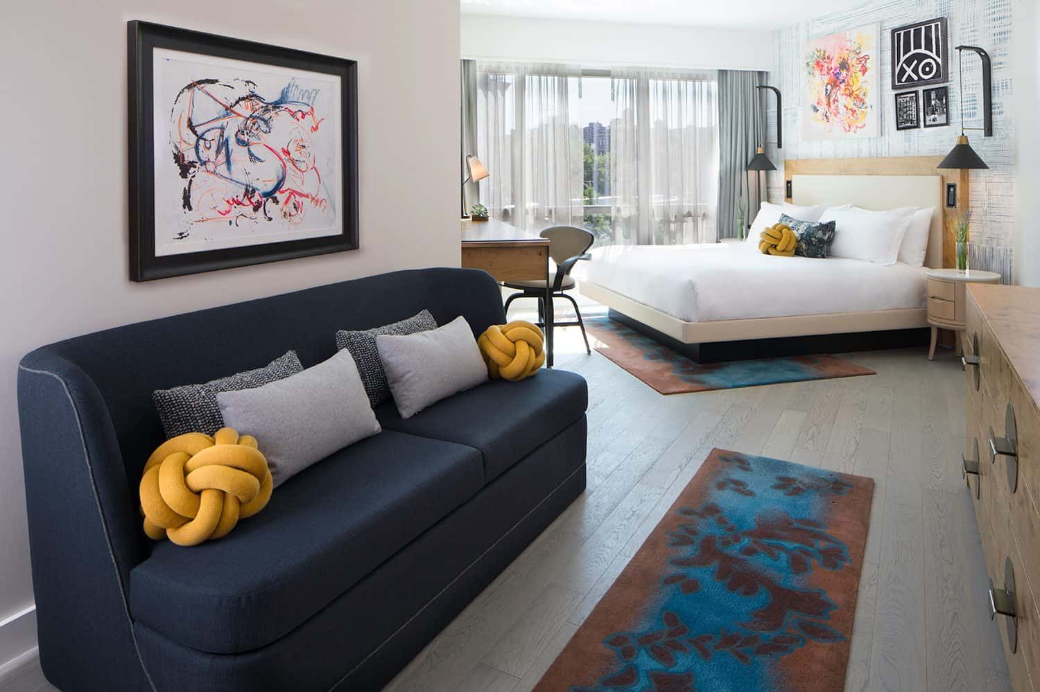 Subtle touches of street art are perfect to include in multiple different areas of the home.