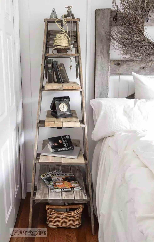 vintage ladder decor idea