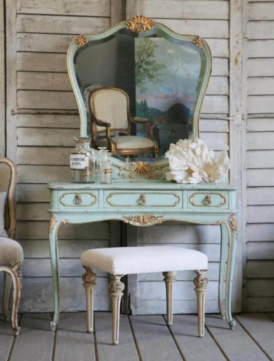 décoration vintage miroir