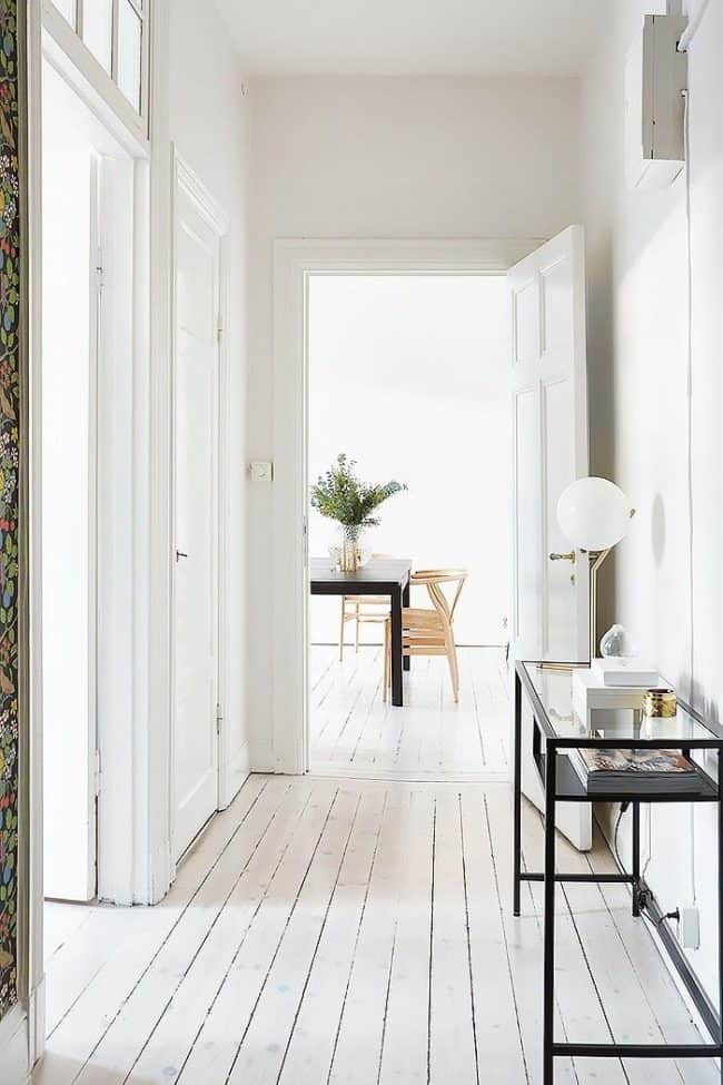 white painted floors 15 Painted Floors That Will Make You Want To Grab A Paintbrush