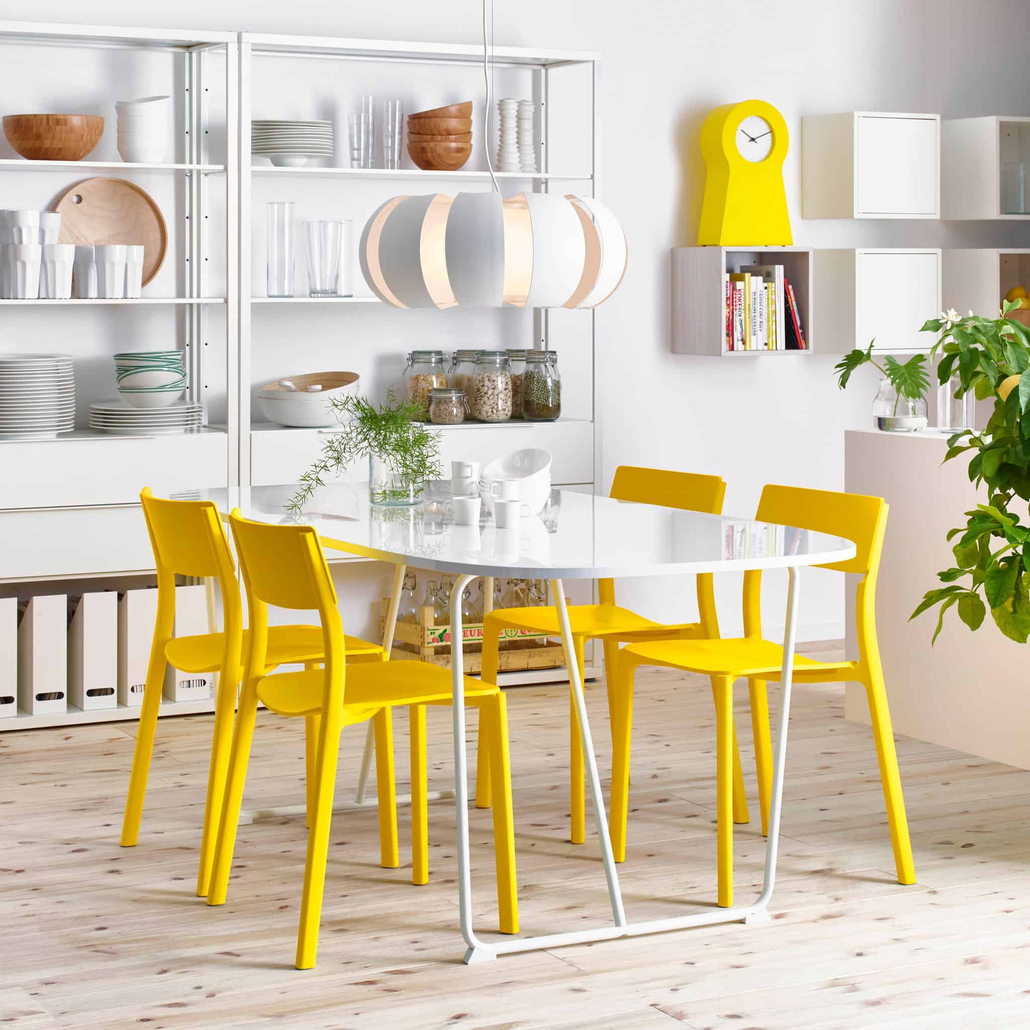 Many kitchen areas are large enough to have a small dining table with a few chairs.