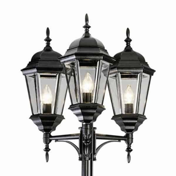 3-Light traditional lamp post-2