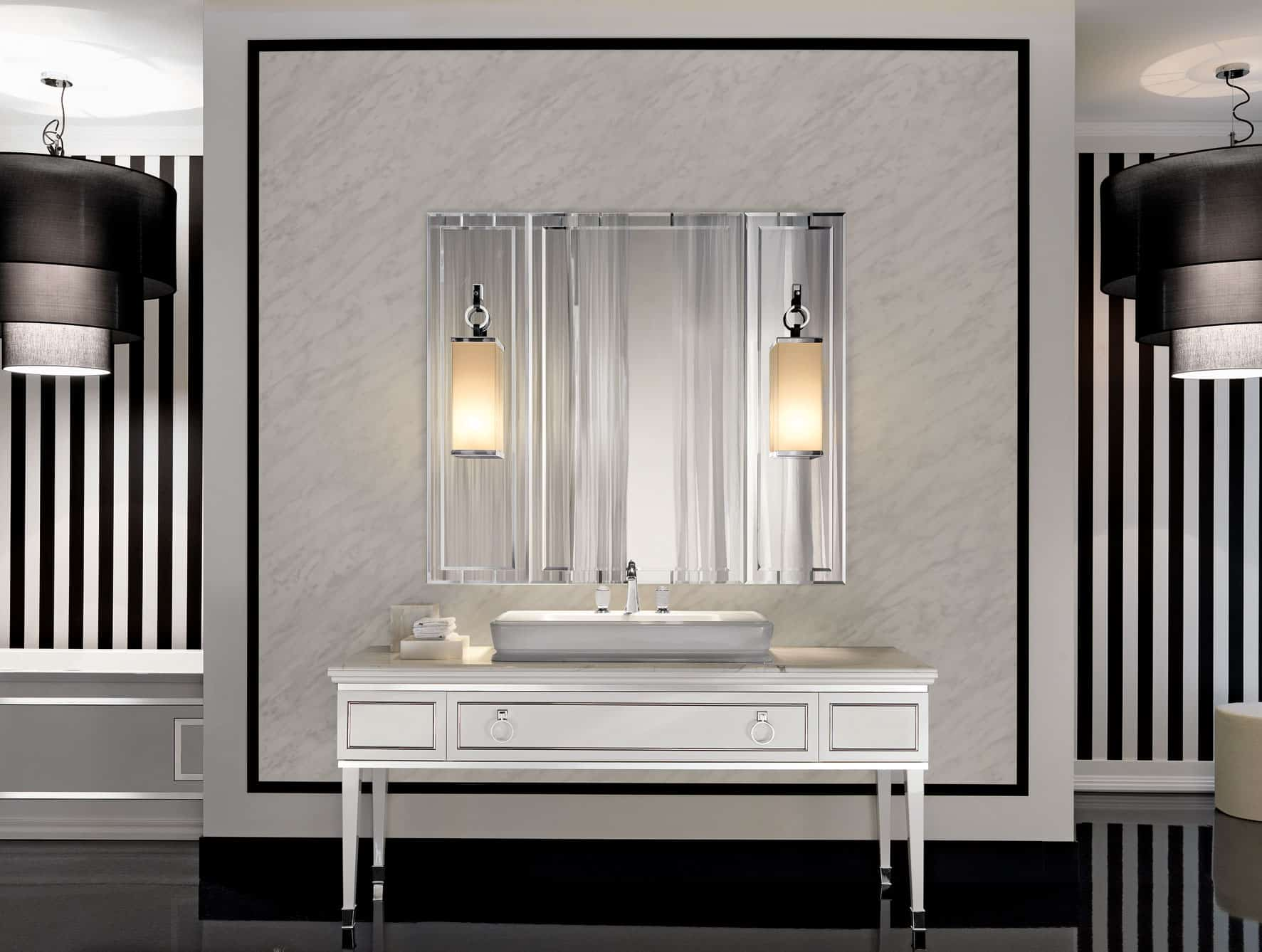 Bathroom lighting ideas for every style - Art deco bathroom lighting fixtures ...