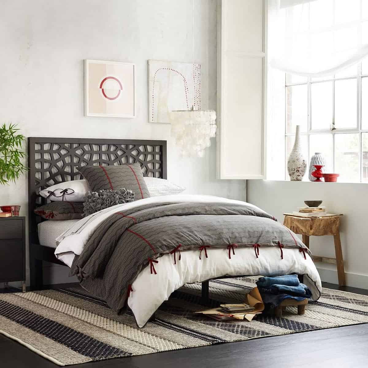 Morocco-inspired-headboard-deisgn-adds-to-the-style-of-contemporary-bedroom-West-Elm