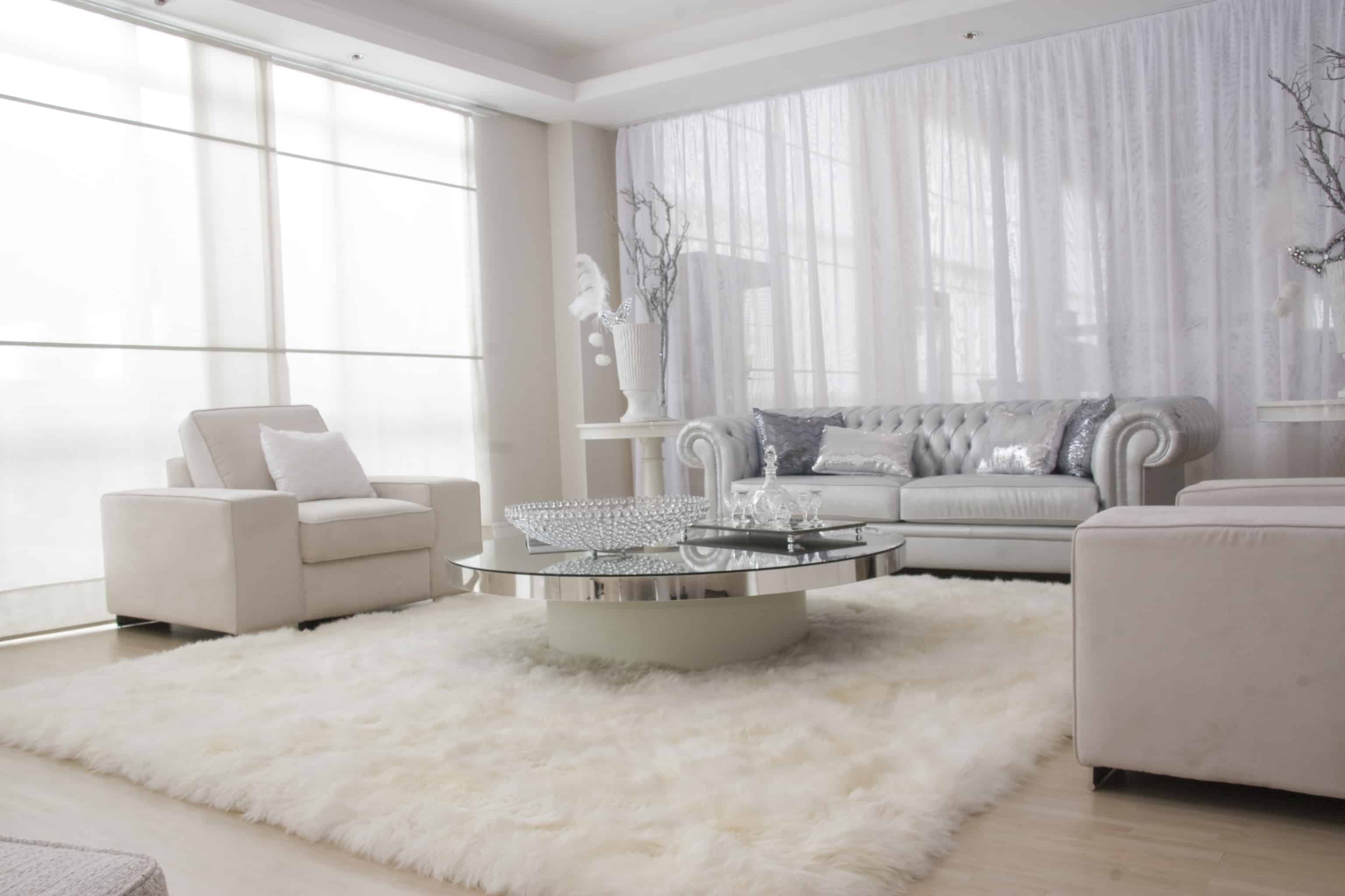 all white living room 12 Lovely White Living Room Furniture Ideas