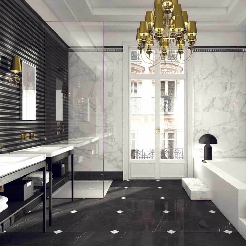 black and white marble bathrooms black and white bathroom ideas that will never go out of style 22746