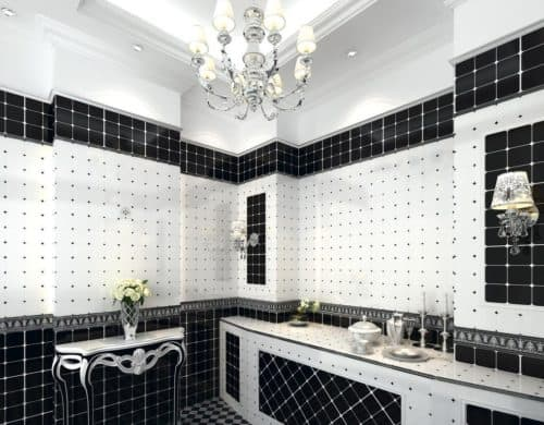 We love the idea of tiles so why not apply tiles all over your bathroom for a mosaic effect that brings the space back to life.