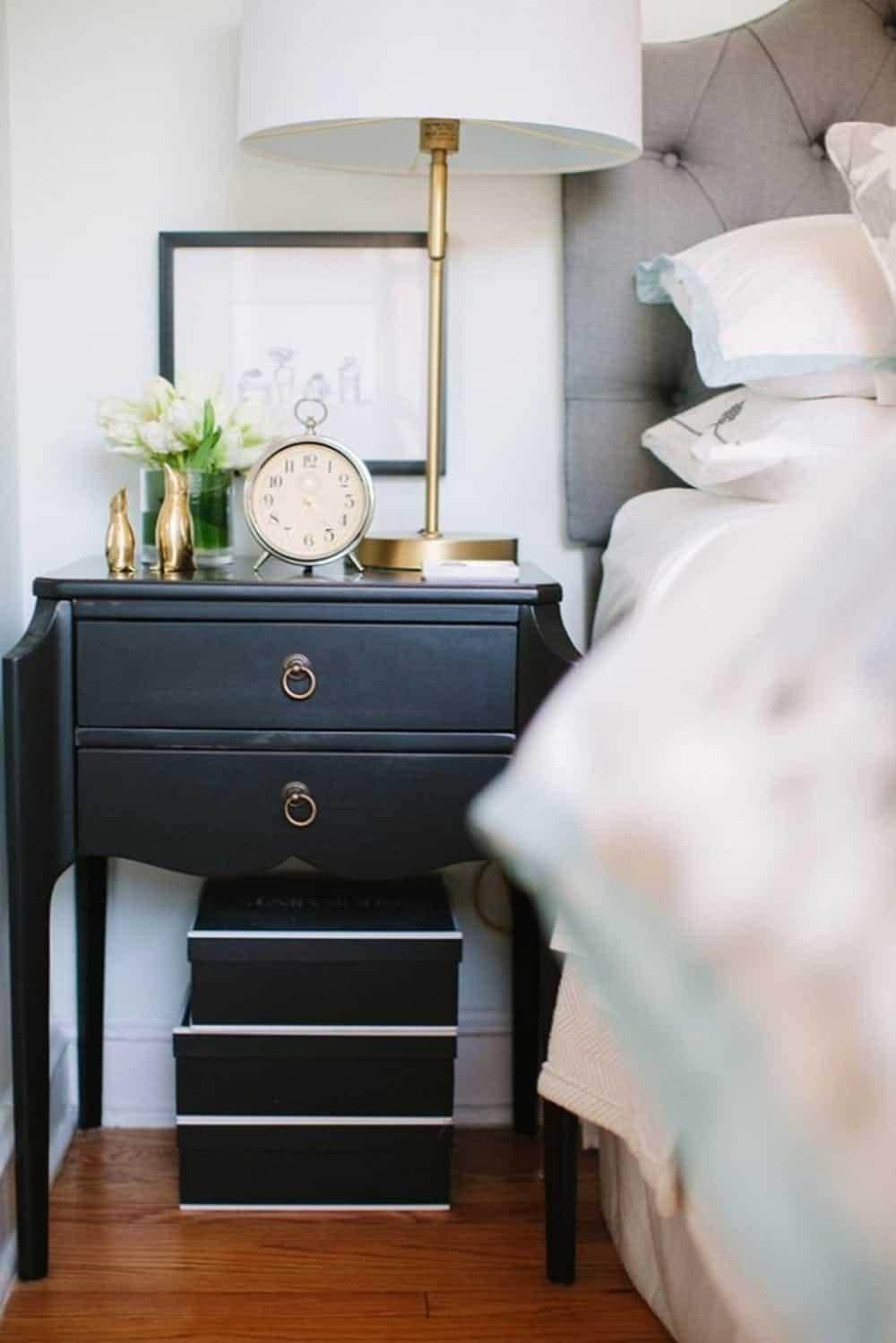 contemporary nightstand decor