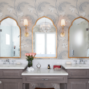 Gold shades are great in smaller bathrooms due to their welcoming effect, while silver shades work well in large rooms for the perfect brighting effect.