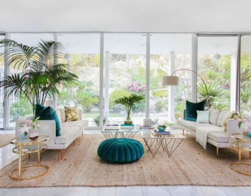 Adding a bold seating area to your living room is an excellent form of bringing color.