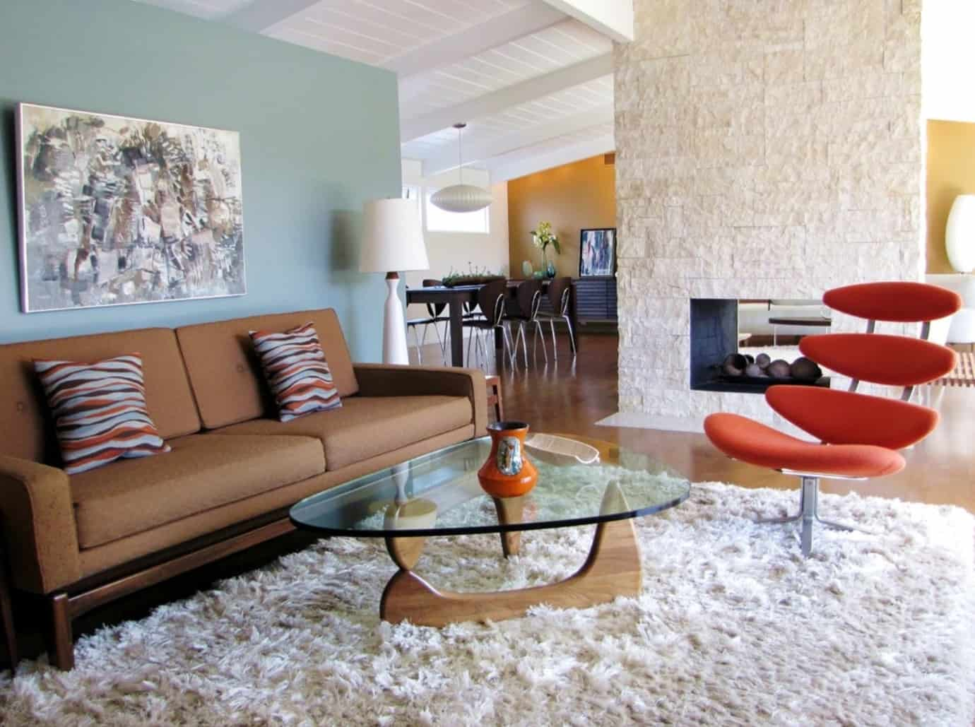 mid century rug Mid Century Living Room Ideas That Are Timeless