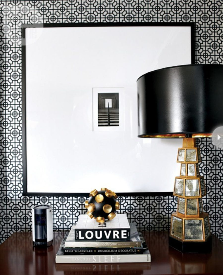 modern black and white nighstand decor 900x1110 15 Bits of Nighstand Decor That Were Swooning For