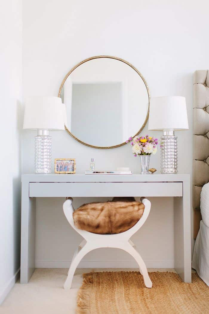 modern vanity and side table inspiration