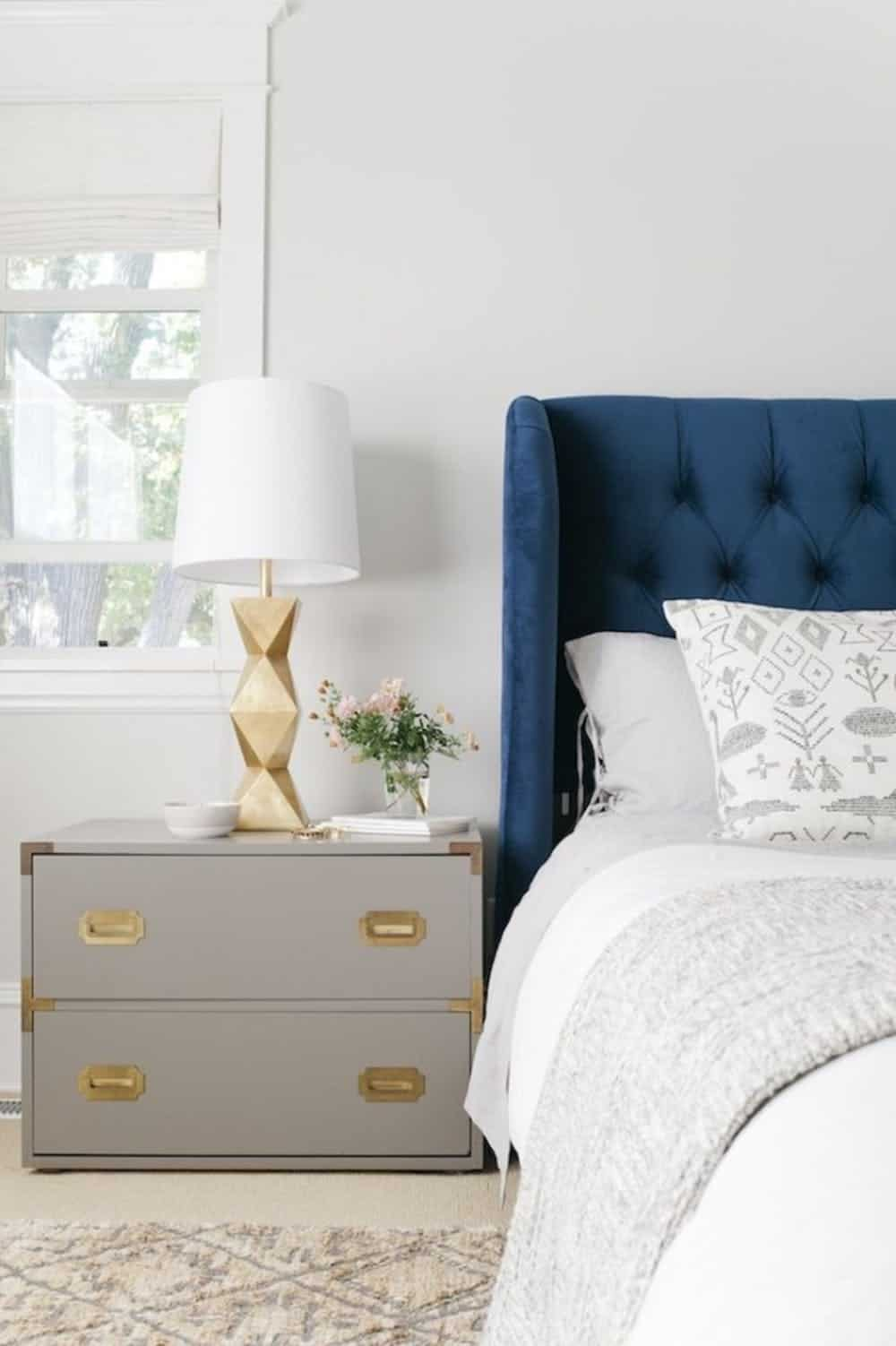 simple modern nightstand decor