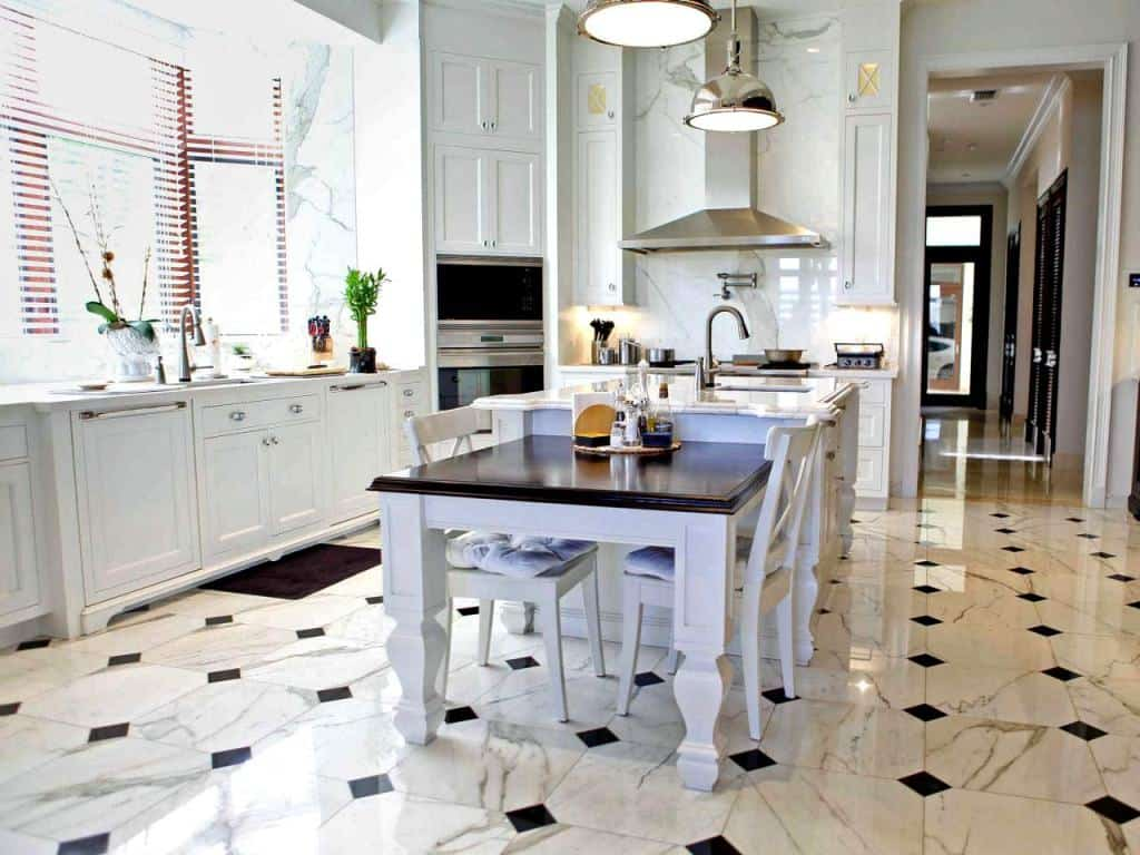 Change it up with a flooring pattern that elevates the decor instead of taking from it.