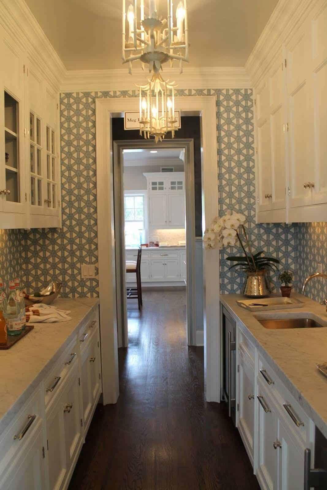 wallpaper small kitchen