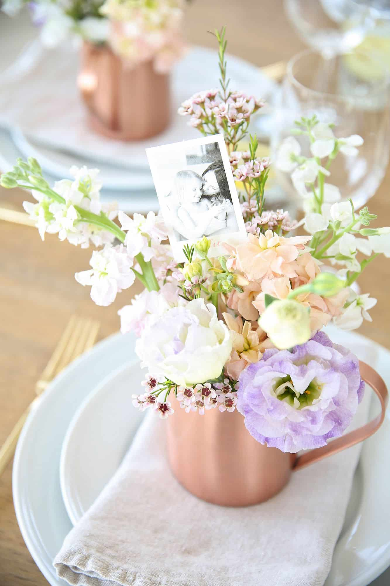 Floral mothers day table Mother's Day Table Decor Inspiration