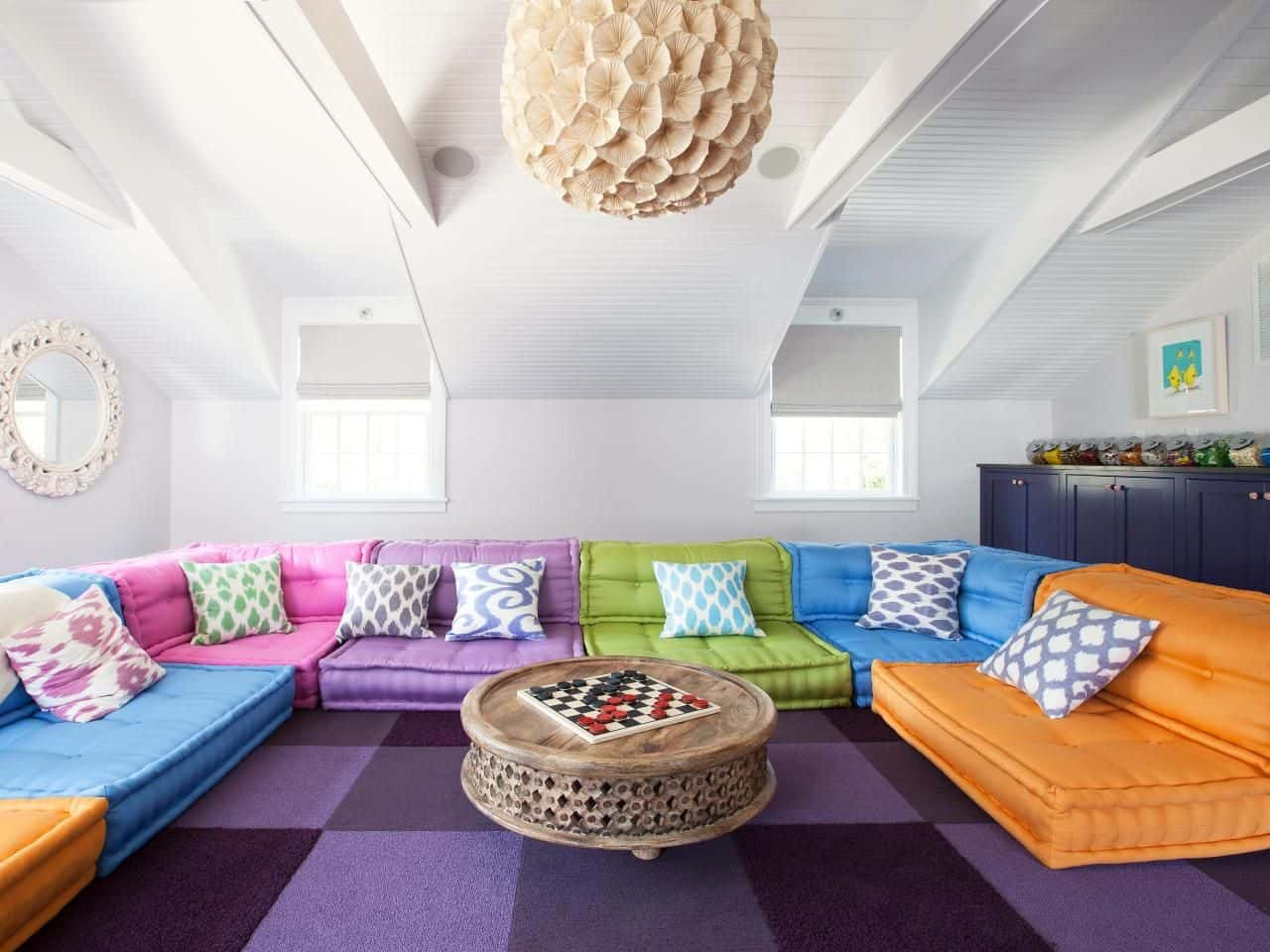 Modern Sofa Colors For Wonderful Bold Colors And Patterns Pop Against A Stark White Modern Game For Modern Sofa Colors