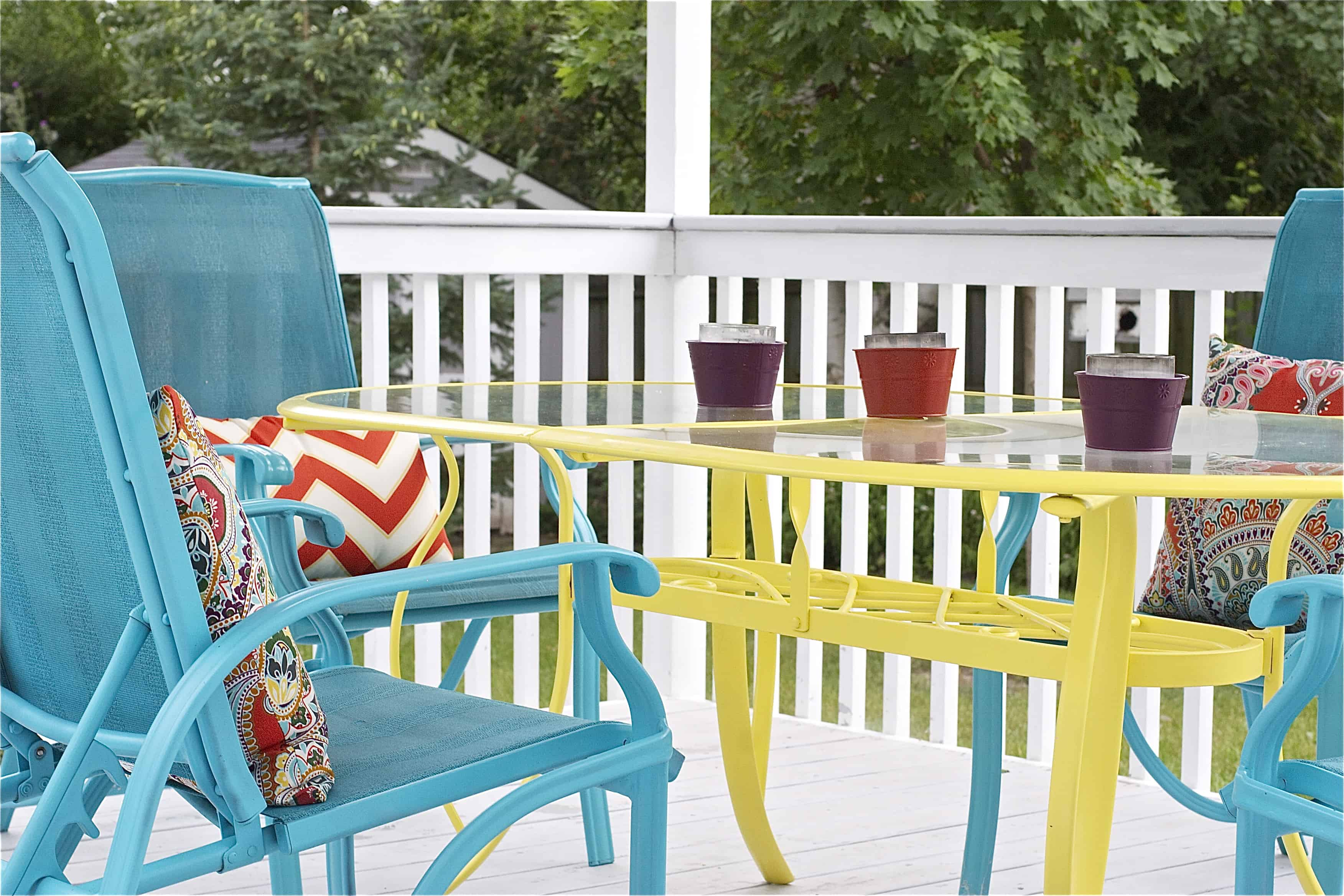 colorful furniture porch 10 Ways To Decorate Your Porch This Summer