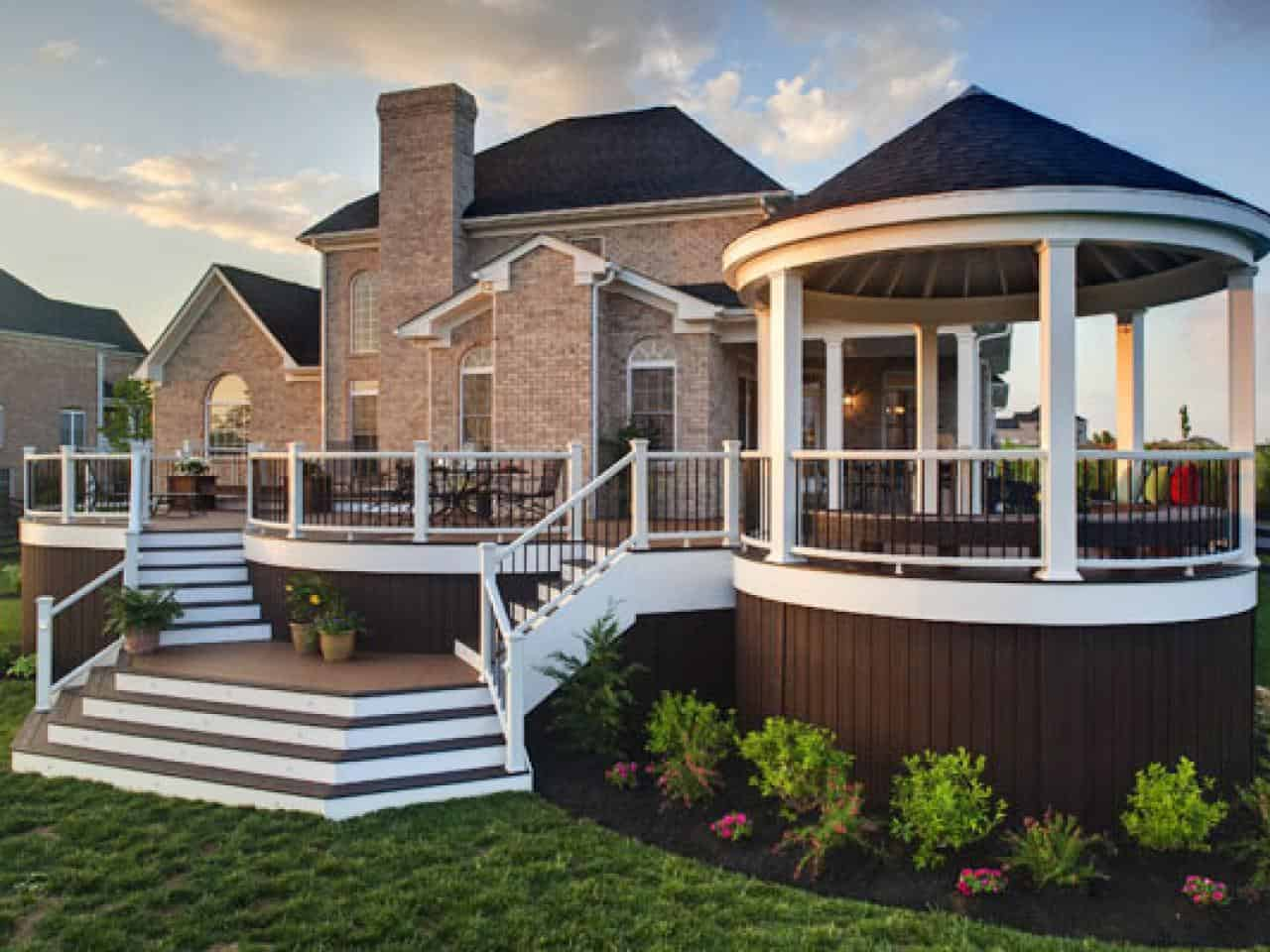 If you have a large deck the best you could do to maximize your space is to create an engaging atmosphere.