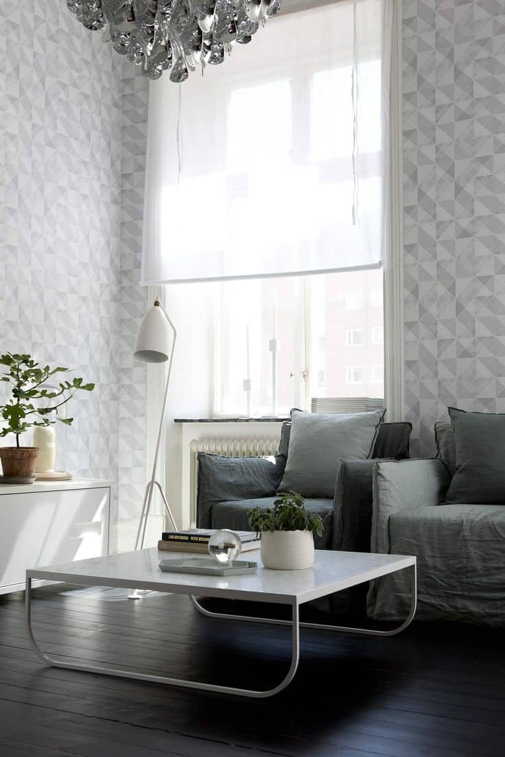 geometric living room wallpaper 10 Spring Trends To Spruce Up Your Space