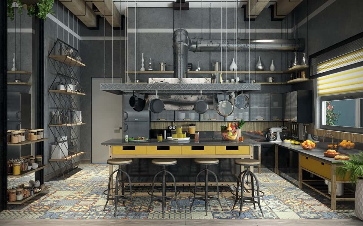 industrial kitchen decor