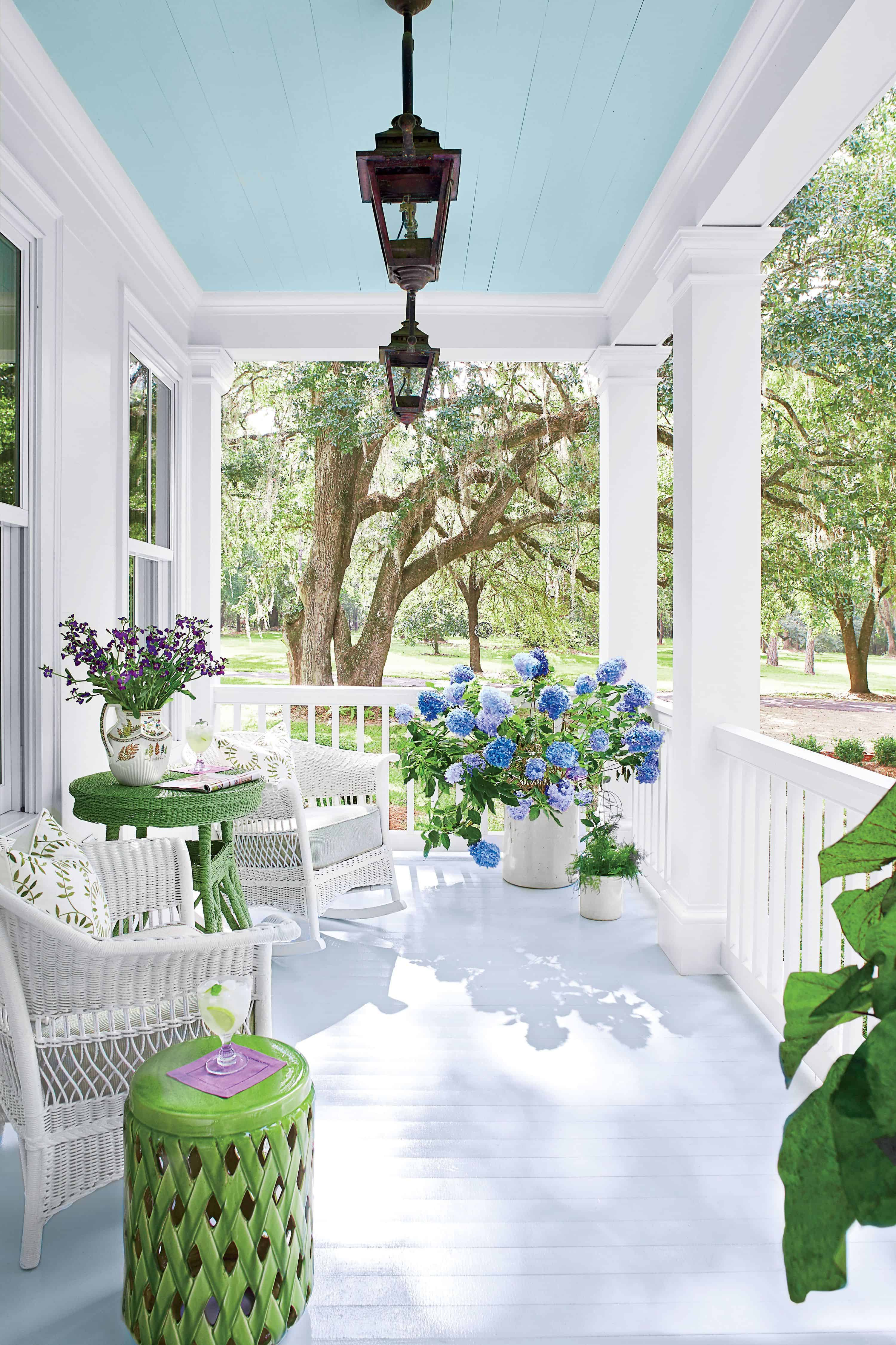 light and airy porch decor 10 Ways To Decorate Your Porch This Summer