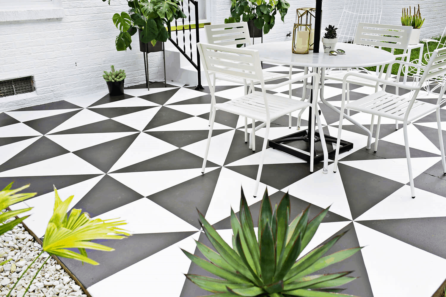 patio with pattern flooringg How To Make The Most Out Of A Small Patio Space