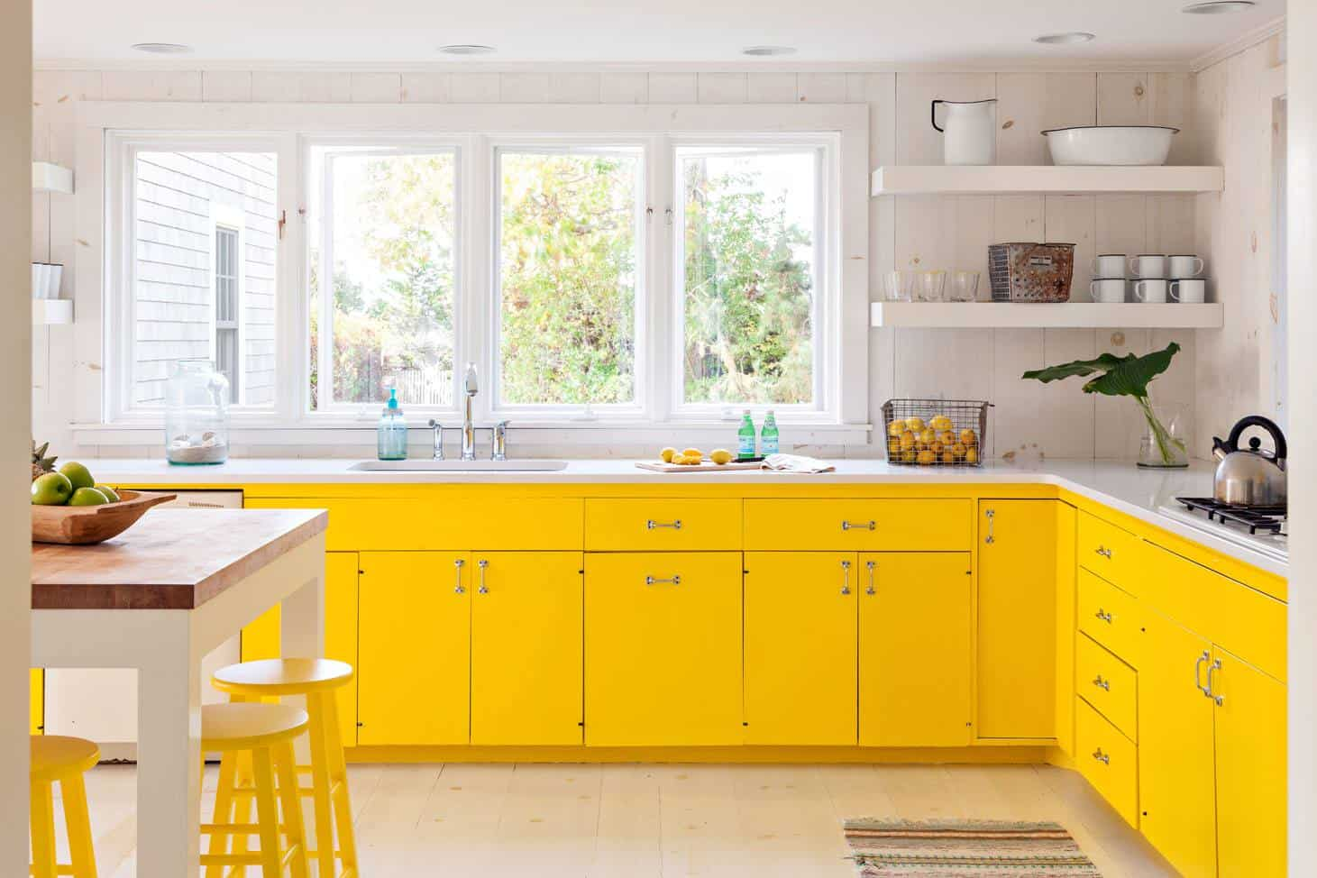 pops of yellow kitchen Cool Kitchen Trends That Are Taking 2018 By Storm