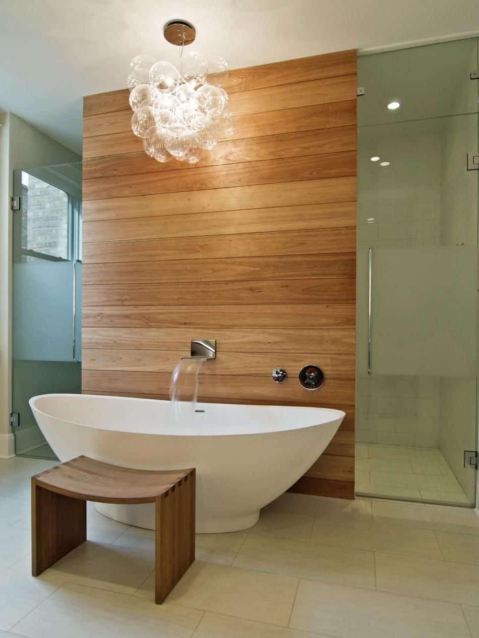 spa inspired natural wood