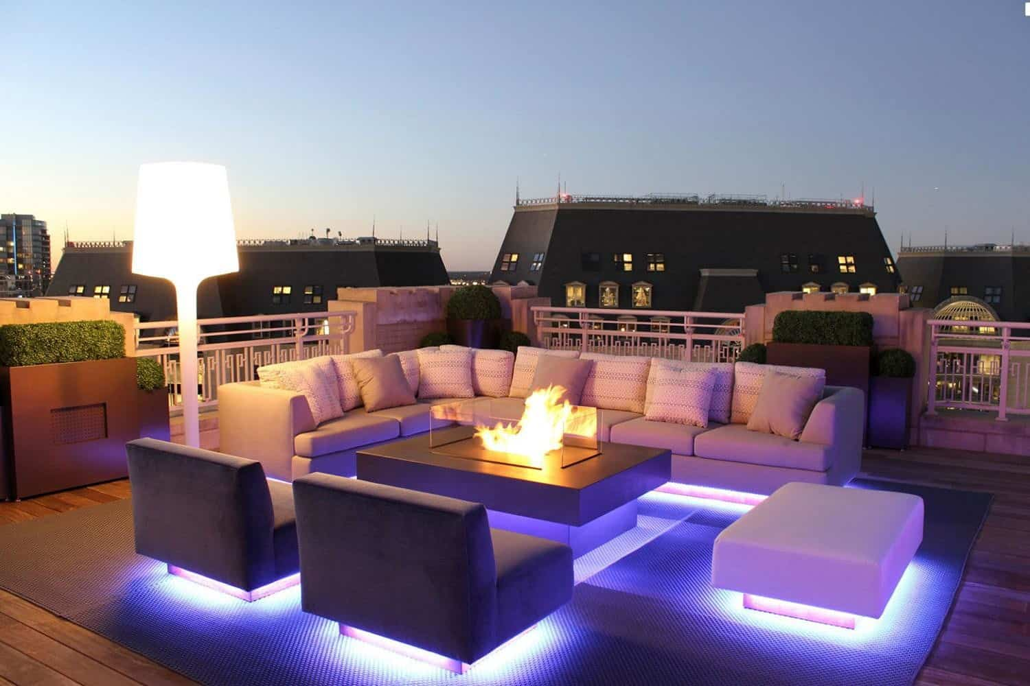 Strip lights are great when you want to add lighting to your deck without changing your decor