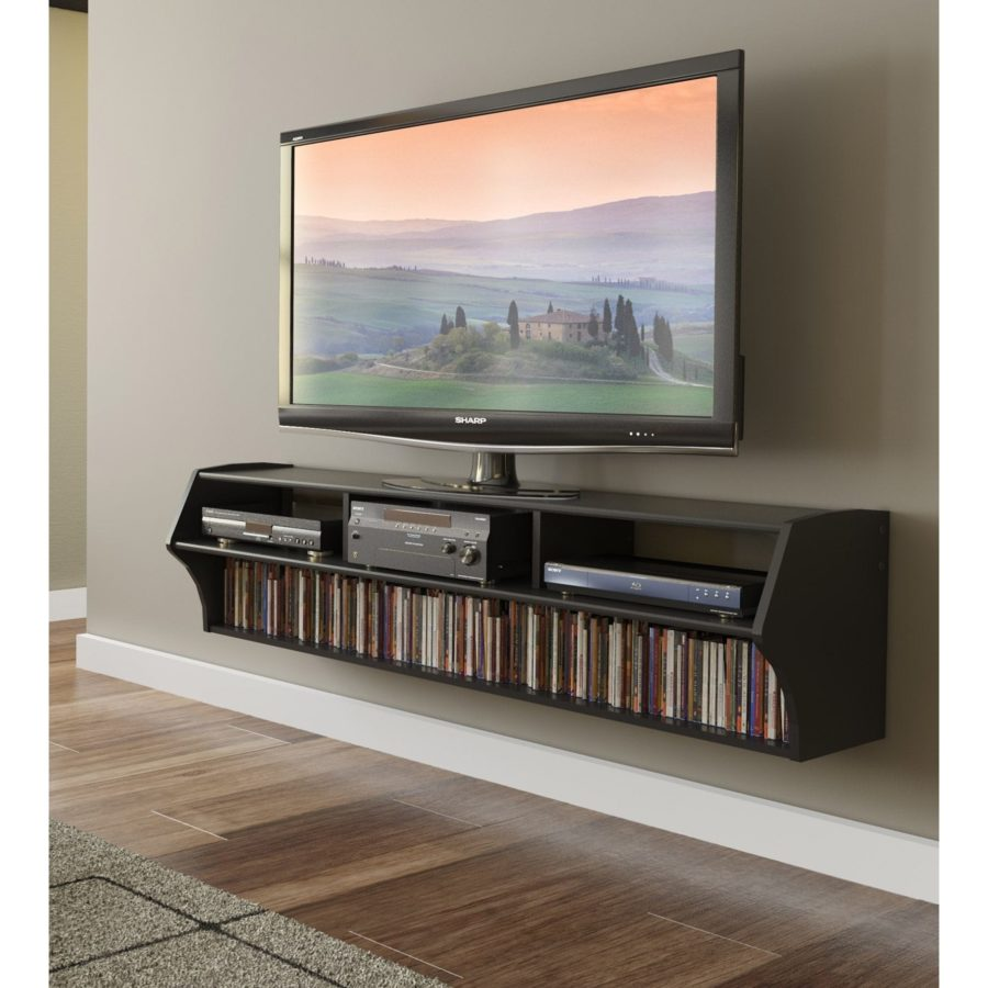 Broadway Altus Plus Black floating tv stand 900x900 15 Floating TV Stands For Your Modern Living Room