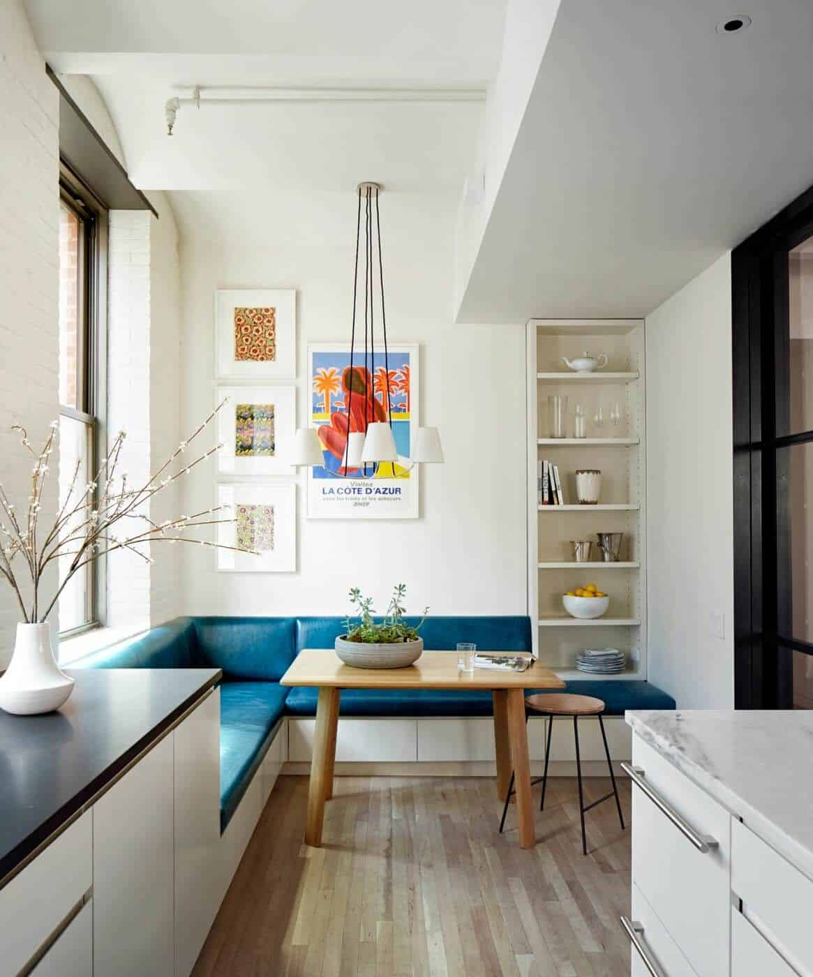 Colorful corner in the kitchen