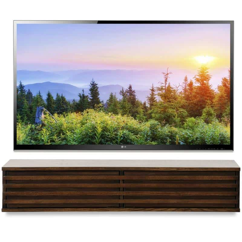 Floating TV Stand Modern Wall Mounted Media Console   Lotus   Russet Brown   Woodwaves 800x 15 Floating TV Stands For Your Modern Living Room