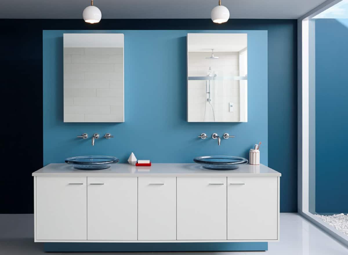 blue sink bowls