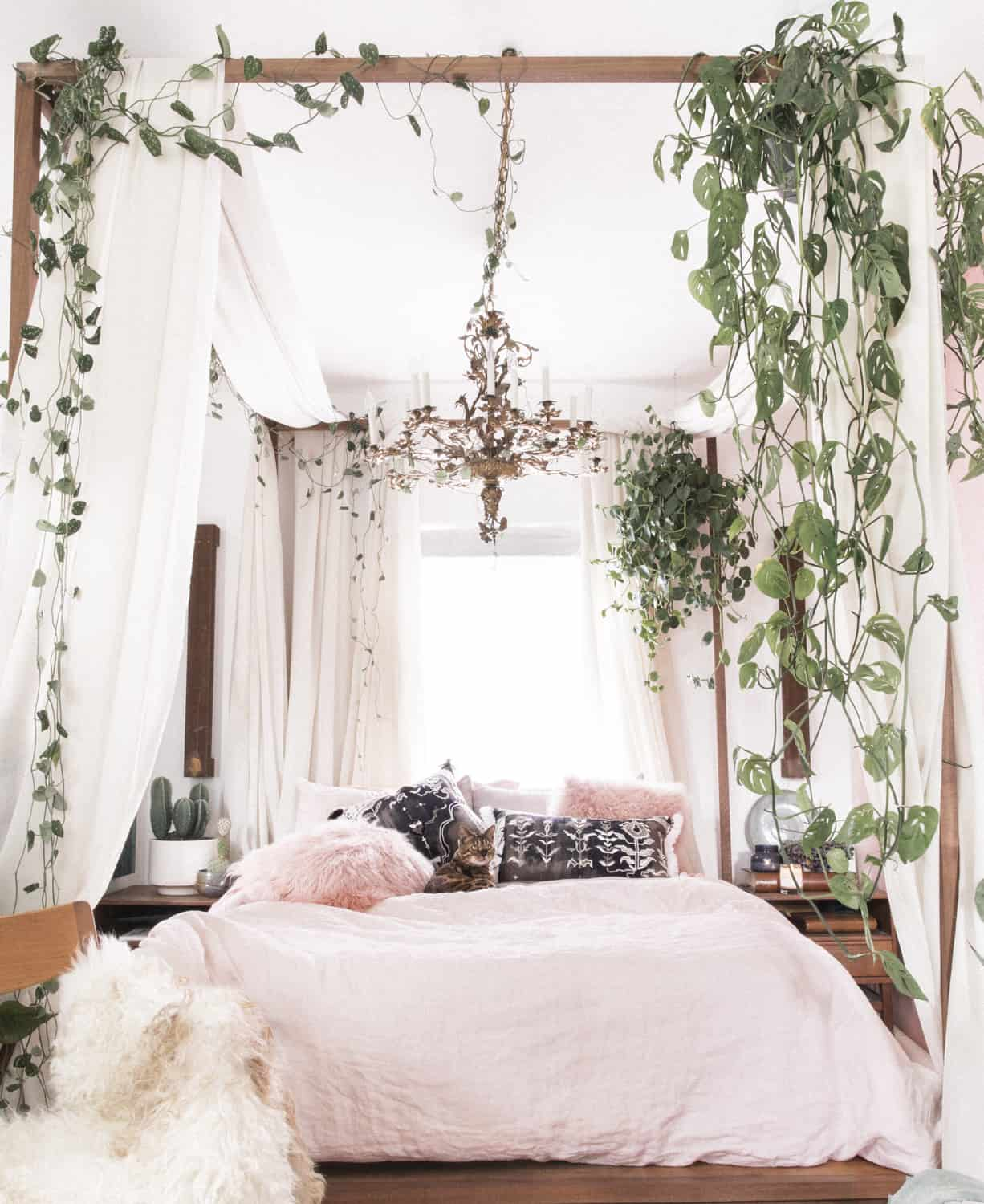 bohemian decor with plants 11 Spaces With A Bohemian Twist