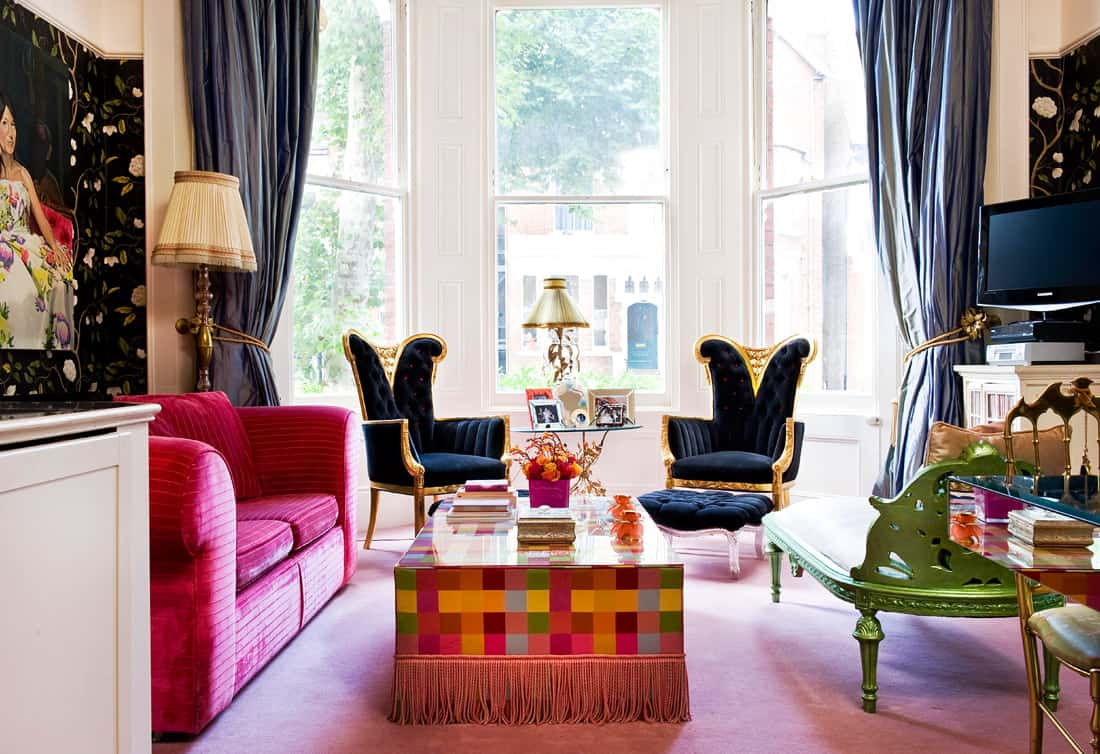 bohemian with eclectic colors
