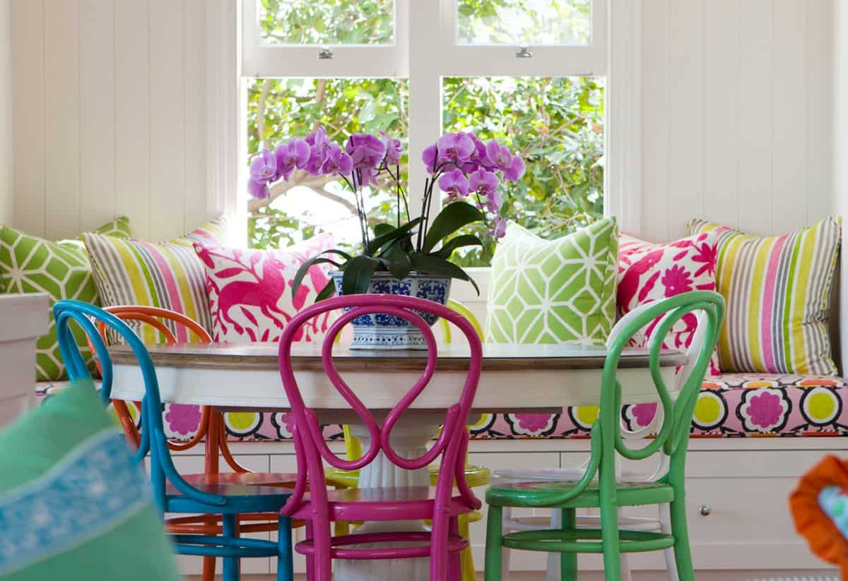 colorful breakfast nook Breakfast Nook Upgrades You Need To See To Believe