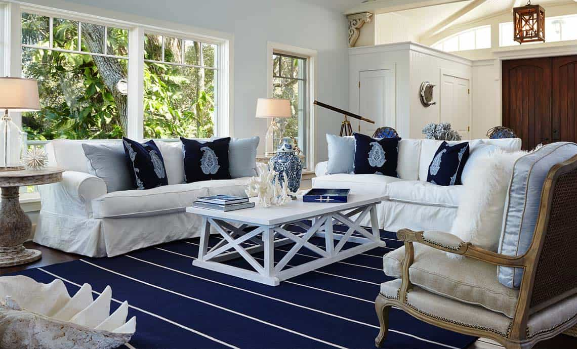deeper denim Coastal Decorating Ideas That Work In Every Room