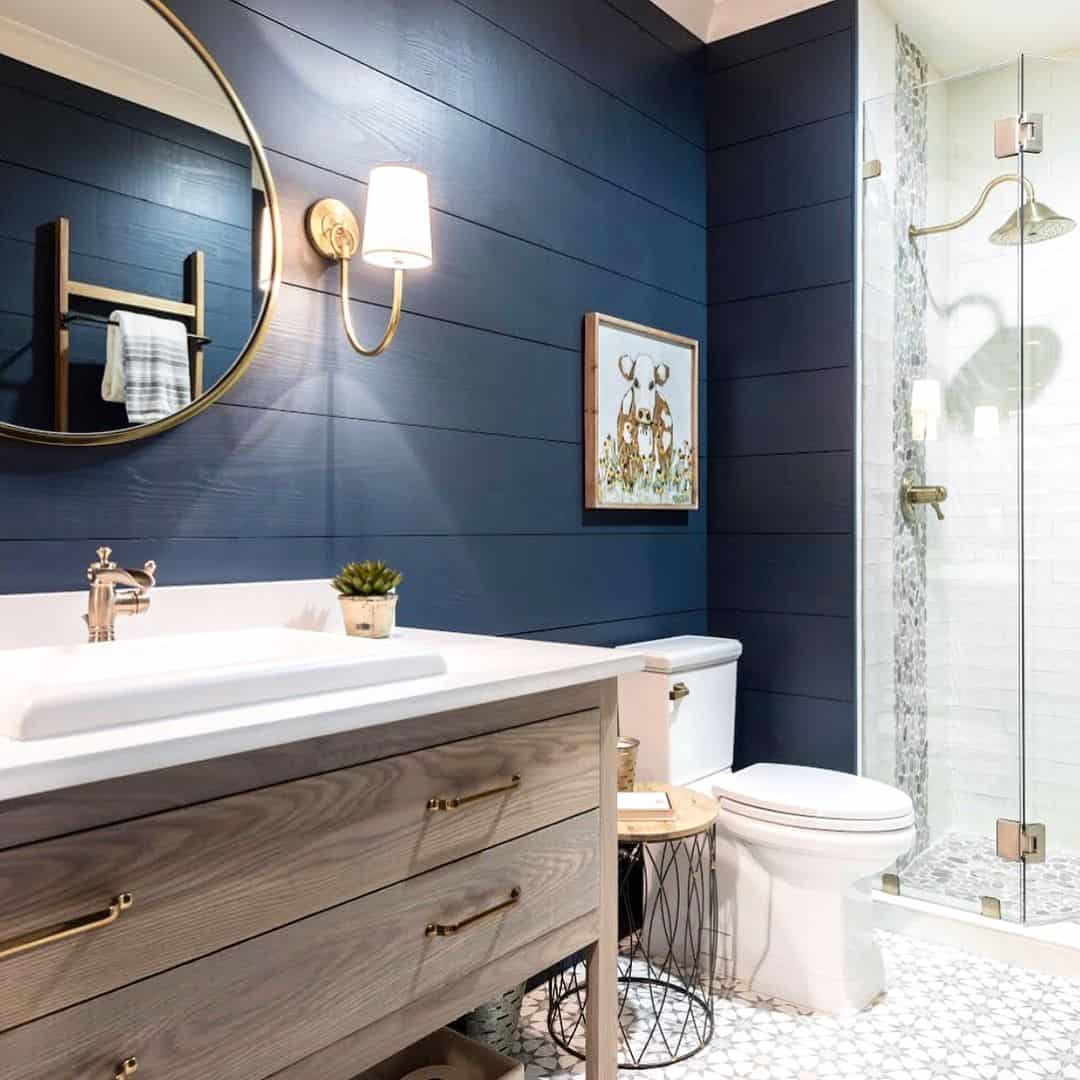 dark blue bathroom tiles master bathroom redecorating ideas 18040