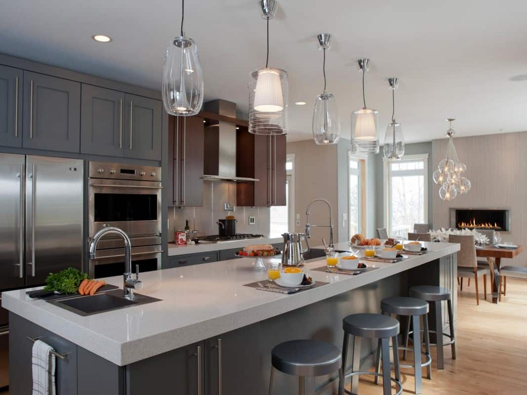 pendant lighting kitchen Small Kitchen Trends That Help Brighten The Space
